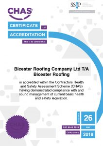 CHAS Certification of Accreditation Certificate