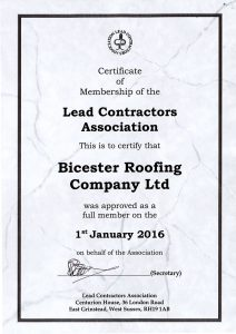 Lead Contractors Association Certificate