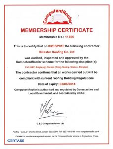 Competent Roofer Certificate