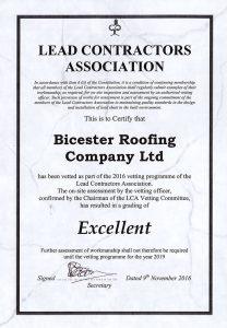 Lead Contractors Excellent Certificate