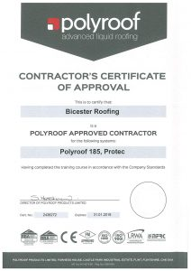 Polyroof Certificate 2018